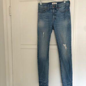 Never worn Madewell skinny jeans